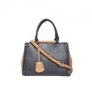 Dune London Navy & Brown Solid Handheld Bag