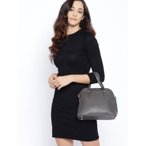 Lino Perros Grey Solid Handheld Bag