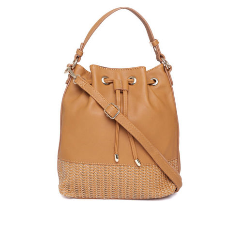 DressBerry Tan Brown Solid Handheld Bag