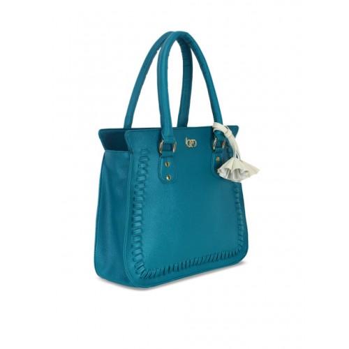 Bagsy Malone Teal Blue Polyurethane Solid Shoulder Bag