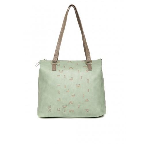Baggit Mint Green Synthetic Cut-Work Shoulder Bag