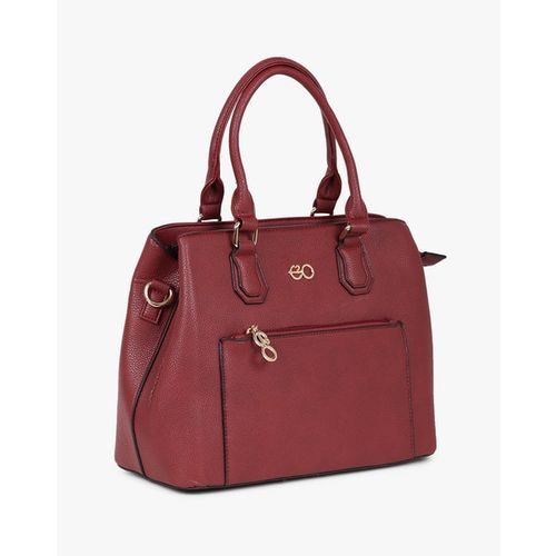 E2O Maroon Solid Handheld Bag