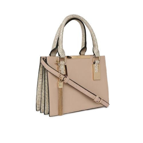 Dune Peach Solid Handheld Bag