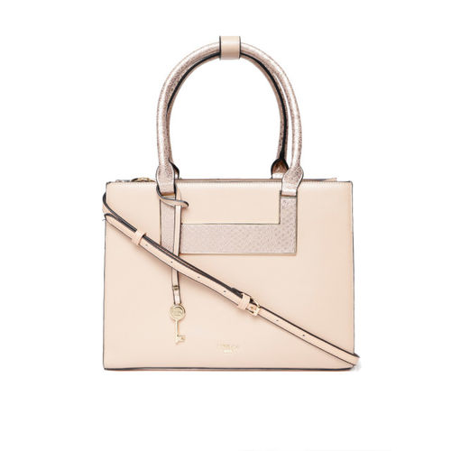 Dune London Peach-Coloured Solid Handheld Bag