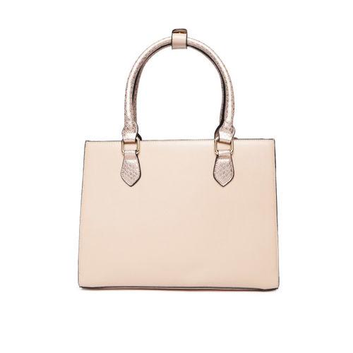Dune London Peach-Coloured Solid Handheld Bag