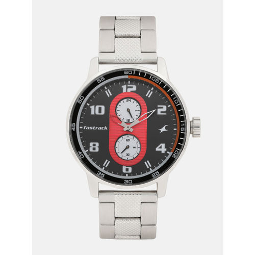 Fastrack Men Black & Red Analogue Watch NK3159SM01_OR2