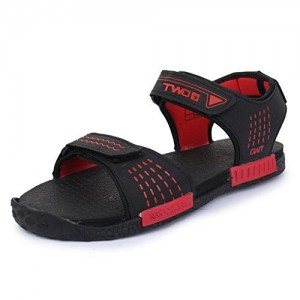 bde843146c6a TRASE Touchwood Strappy Black Red Floaters for Men-9 IND UK. ₹499 Amazon.  Lee Cooper Men Black   Red Sports Sandals