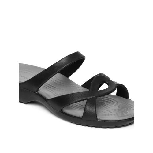 Crocs Women Black Solid Open Toe Flats