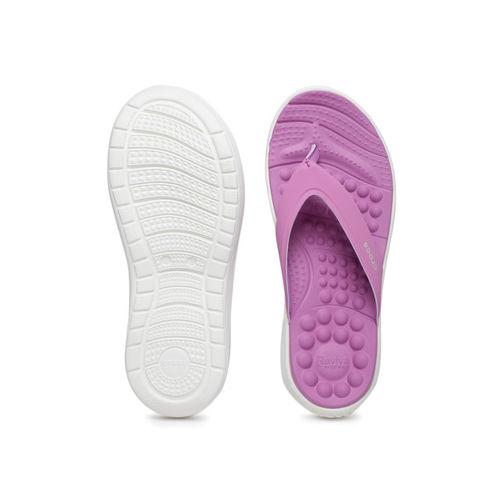 Crocs Women Purple Reviva Solid Thong Flip-Flops