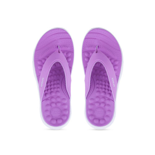 Crocs Women Purple Solid Flip-Flops