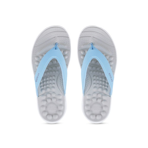 Crocs Women Blue & Grey Solid Flip-Flops
