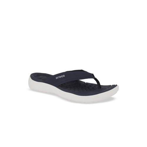 Crocs Women Navy Blue Solid Thong Flip-Flops