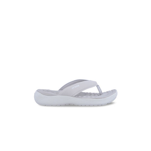 Crocs Women Grey Solid Flip-Flops