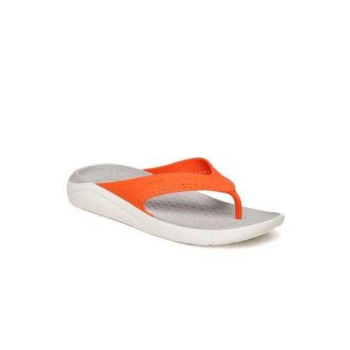 Crocs Unisex Orange Solid Thong Flip-Flops