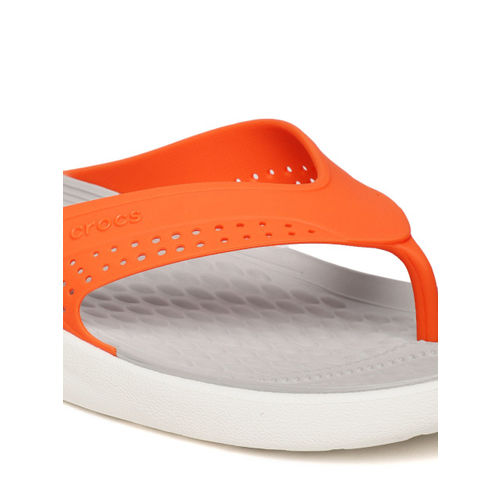 Crocs Unisex Orange Solid Thong Flip-Flops