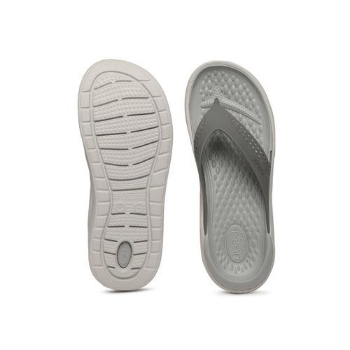 Crocs Unisex Grey Solid Thong Flip-Flops