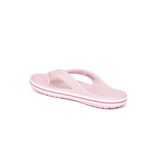 Crocs Unisex Pink Solid Thong Flip-Flops