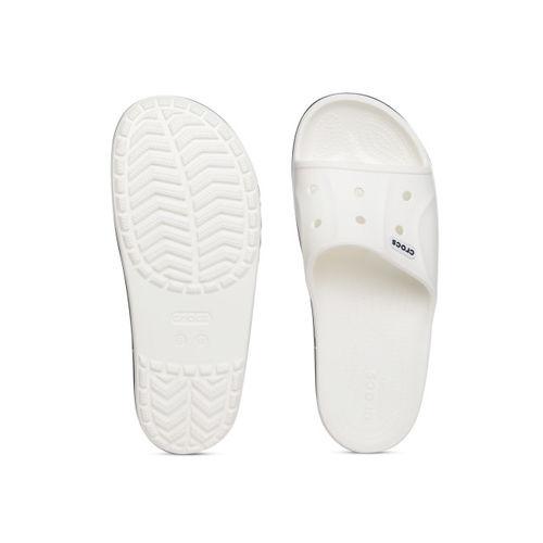 Crocs Unisex White Solid Slip-On Flip Flops