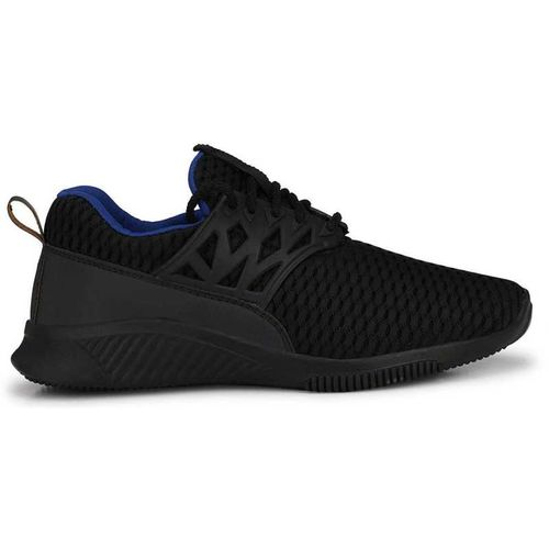 Vitegra Men's Panther Series Black Mesh Lace-up Running Shoes