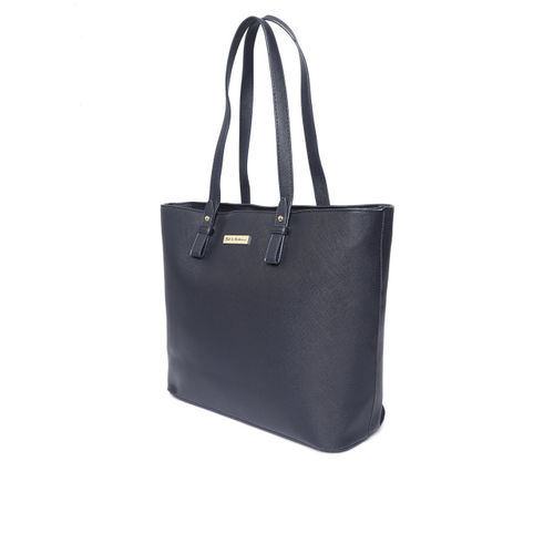Mast & Harbour Navy Blue Solid Shoulder Bag