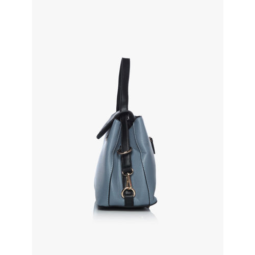 E2O Blue Polyurethane Satchel Bag