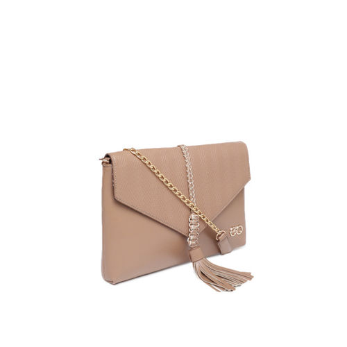 E2O Khaki Solid Sling Bags