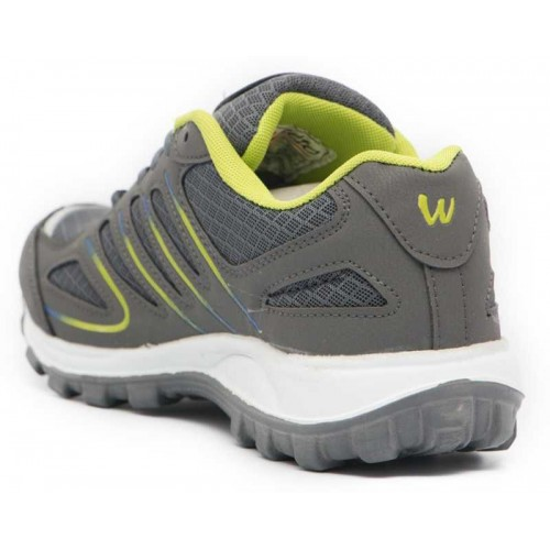 Asian Grey Mesh Lace Up Running Shoes
