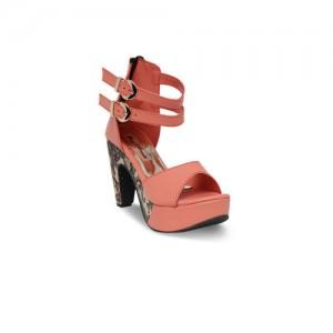 Bruno Manetti Women Pink Solid Sandals