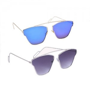 a97c7963a4d Buy Clark N Palmer Black   Blue Wayfarer Sunglasses online