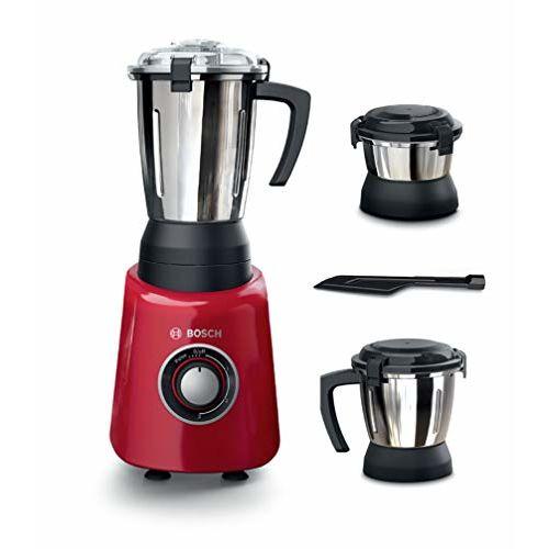 Bosch TrueMixx Radiance 600-Watt Mixer Grinder (Red)