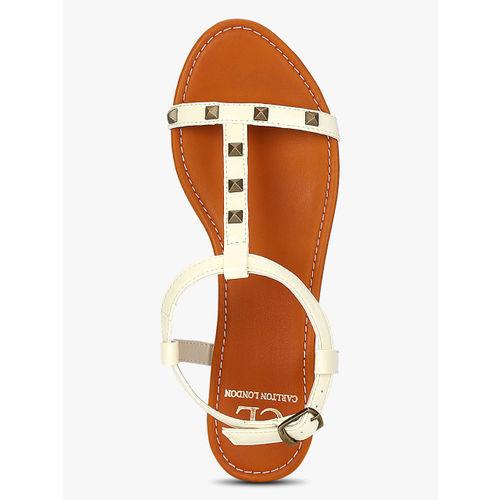 Carlton London Cream Sandals