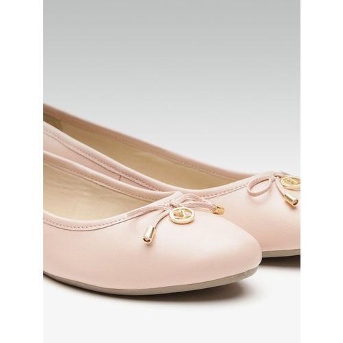 Carlton London Women Peach-Coloured Solid Ballerinas