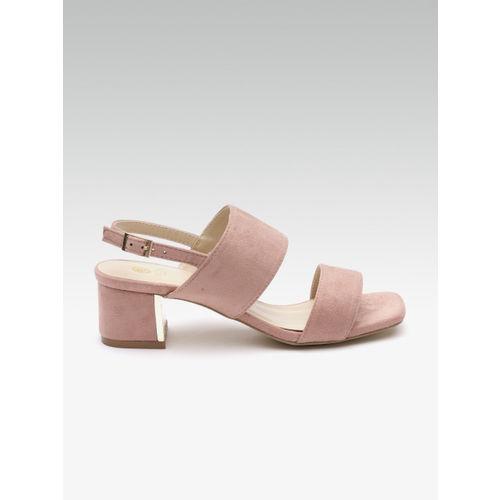 Carlton London Women Pink Solid Heels