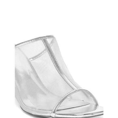 Carlton London Women Silver-Toned Solid Heels