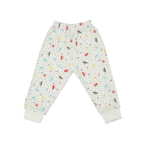 earth conscious Boys White Printed Night suit