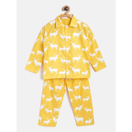 Kids Clan Yellow Solid Night Suit KCN-100A