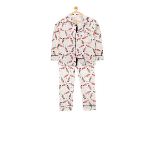 099ac932d2d ... Cherry Crumble Unisex Off-White Printed Night suit WS-NSUIT-7122 ...