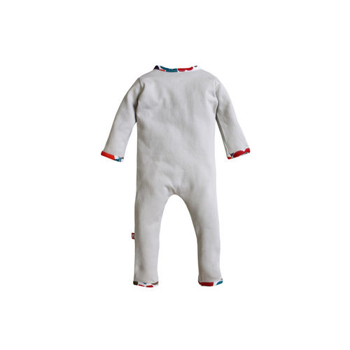Nino Bambino Baby Boys Blue Solid Rompers with Contrast Pocket