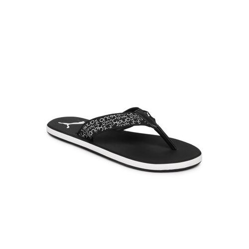 Puma Men Black Printed Breeze One8 IDP Thong Flip-Flops