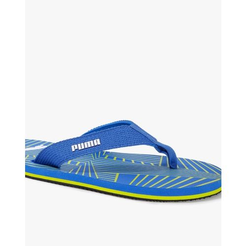 Puma Men Blue Solid Gypsum IDP Thong Flip-Flops