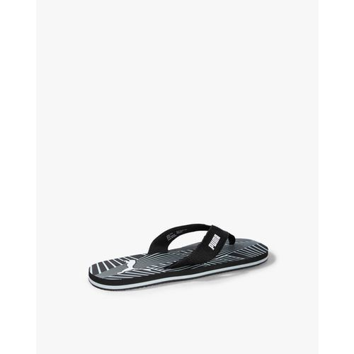 Puma Men Gypsum IDP Black Solid Thong Flip-Flops