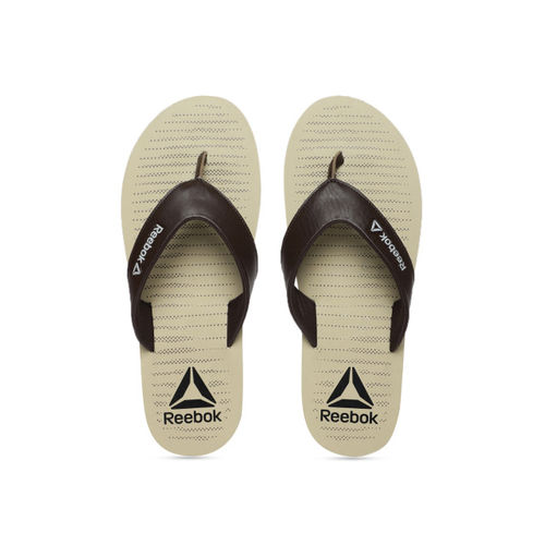 e84b73476687 Buy Reebok Men Brown Solid Thong Flip-Flops online