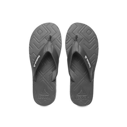 Reebok Men Grey Solid Thong Flip-Flops