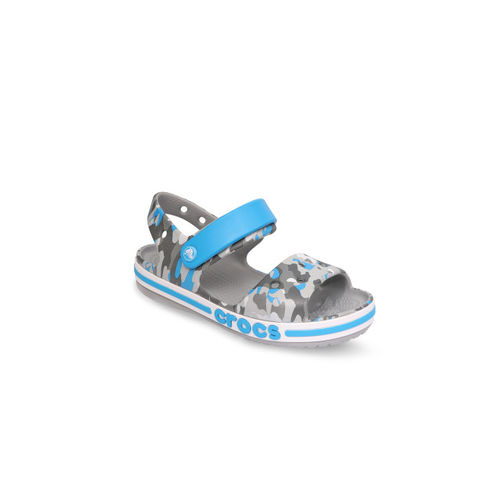 Crocs Boys Grey & Blue Comfort Sandals