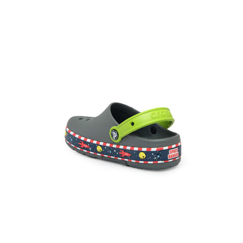 Crocs Boys Grey Printed Clogs