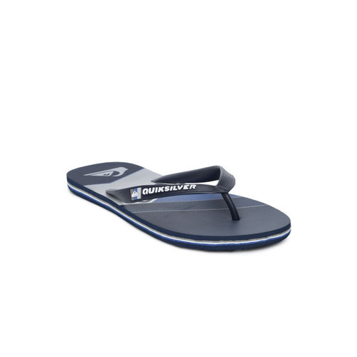 Quiksilver Men Navy Blue Printed Thong Flip-Flops