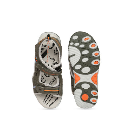 Fame Forever by Lifestyle Boys Olive Green Comfort Sandals