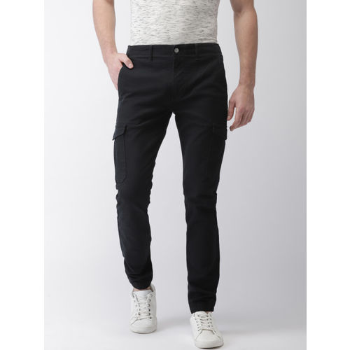 e92e81aee8a Buy Levis Men Black Slim Tapered Fit Solid Joggers 512 online ...