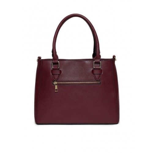 Allen Solly Purple Synthetic Solid Handheld Bag