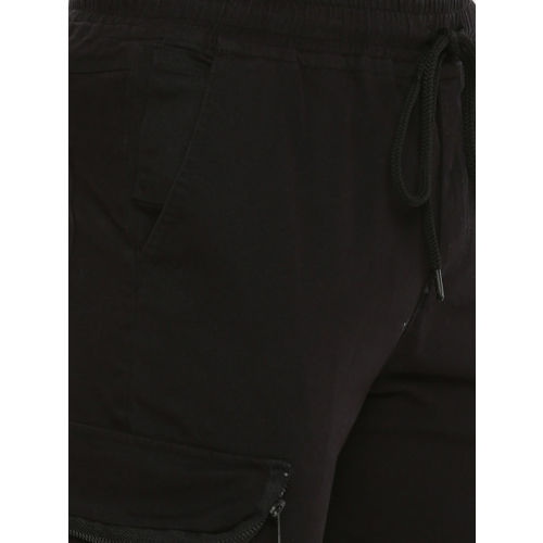 SKULT by Shahid Kapoor Men Black Regular Fit Solid Joggers